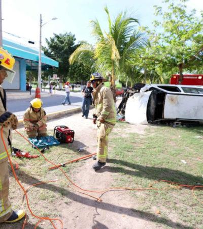 Empresas, escuelas y dependencias se capacitan durante la Semana Nacional de Protección Civil en Puerto Morelos