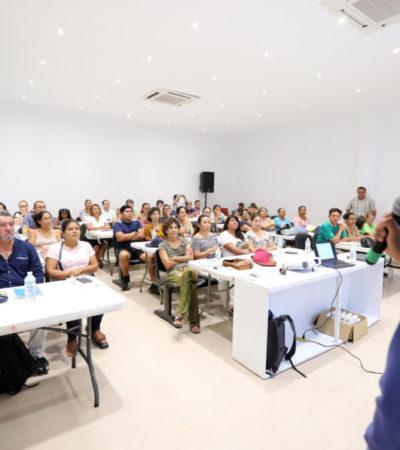 """Refuerzan el programa """"Capacitación empresarial"""" para ofrecer herramientas a empresarios, emprendedores y artesanos en Puerto Morelos"""