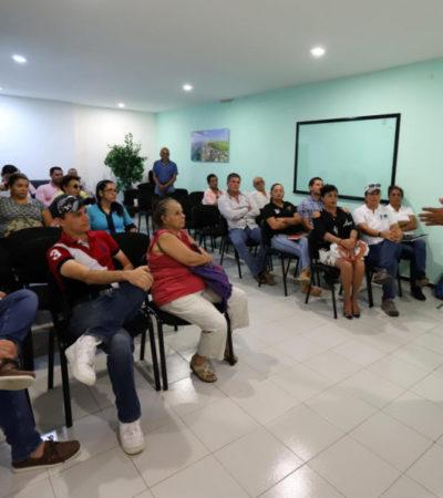 """Intensifican la campaña """"Conéctate al drenaje, juntos por un arrecife sano"""" en el Casco Antiguo de Puerto Morelos"""
