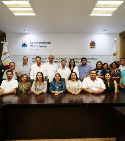 Autoridades municipales y estatales instalan la Comisión de Derechos Humanos en Cozumel