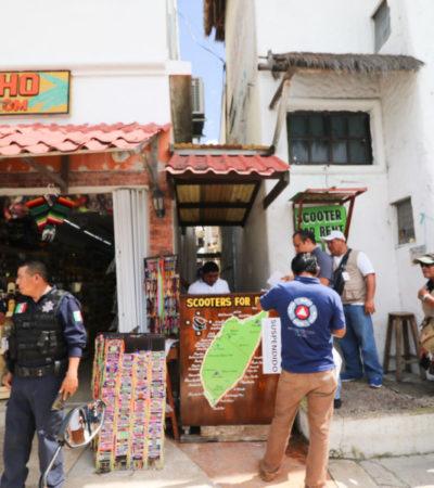 Retiran credenciales a prestadores de servicios turísticos involucrados en riña y suspenden a rentadora de vehículos en Cozumel