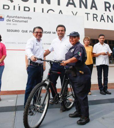 """Policías de Cozumel reciben reconocimiento por cumplir con el programa """"Seguro que puedo cuidar mi salud"""""""