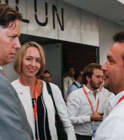 Sostiene Pedro Joaquín encuentro con embajador y cónsul de EU en México para tratar temas del sector turístico