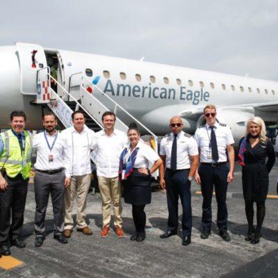 AUMENTA CONECTIVIDAD AÉREA: Reanuda American Airlines vuelo Miami-Cozumel; prevén apertura de la ruta Houston-Cozumel vía Southwest