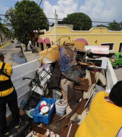 Recolectan 3.5 toneladas de cacharros en la colonia 10 de Abril de Cozumel