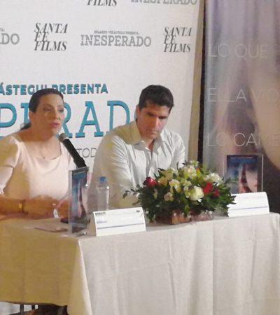 La diputada federal Adriana Teissier se convierte en 'embajadora' de películasen Cancún