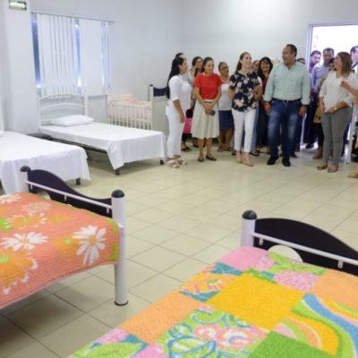 Recorren instalaciones del próximo albergue temporal para mujeres maltratadas en la Zona Continental de Isla Mujeres