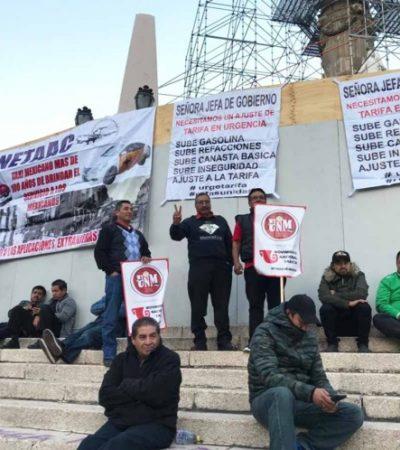LUNES DE PROTESTAS DE TAXISTAS EN CDMX: Rechazan aplicaciones digitales y se movilizan contra Uber y Cabify