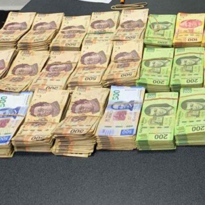 Cae sujeto con un millón de pesos en la Mérida-Celestún; no pudo acreditar legal procedencia
