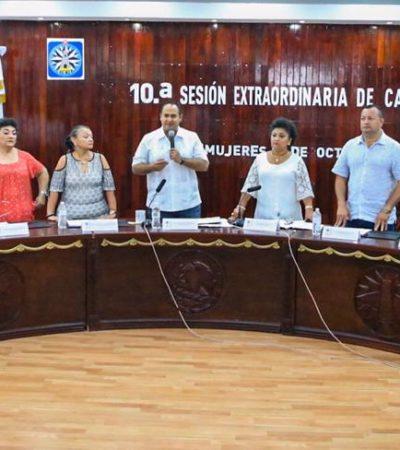 Aprueba Cabildo iniciativa para dar certeza jurídica al territorio municipal de Isla Mujeres