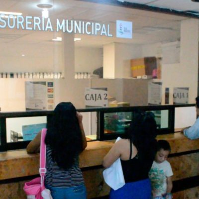 Ofrece Tesorería Municipal descuentos en servicios e impuestos en Isla Mujeres