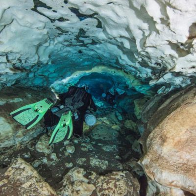 Descubren en cenote de Yucatán piezas dentales de tiburones que vivieron hace más de 5 millones de años