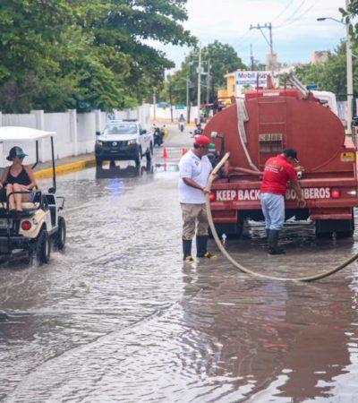 Realizan jornadas de limpieza para evitar afectaciones por lluvias en Isla Mujeres