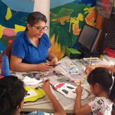 Mediante talleres de arte buscan preservar la tradición del Hanal Pixán en Cancún