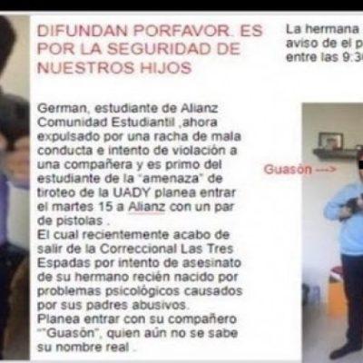 Desmienten nueva supuesta amenaza de tiroteo, ahora en escuela privada de Mérida; fue falsa alarma, dice Seguridad Pública