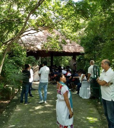 Celebran séptimo aniversario del parque ecológico Ombligo Verde en Cancún