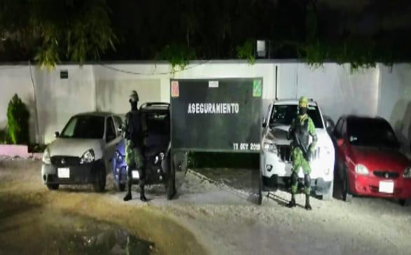 Aseguran droga y armamento a atacantes de militares en Bacalar