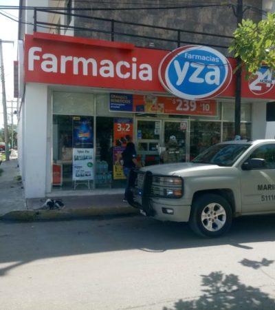 Asaltan otra farmacia YZA en Chetumal; no hay detenidos
