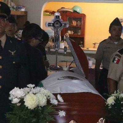 Velan en su natal Veracruz el cuerpo de soldado asesinado en enfrentamientos de Culiacán