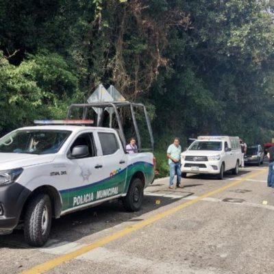 Roban más de 3 mdp de programas federales en asalto carretero en Chiapas; 4 policías heridos
