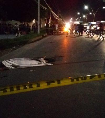 Muere peatón atropellado en la entrada a Cancún