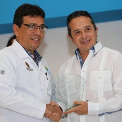 RECONOCEN A MÉDICOS EN CHETUMAL: Quintana Roo se ubica en el primer lugar de la tabla nacional en el Programa Promoción a la Salud y Determinantes Sociales