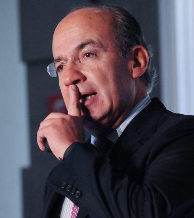 Se lanza Felipe Calderón contra el Ministro Presidente de la SCJN; es 'porrista' de AMLO, asegura