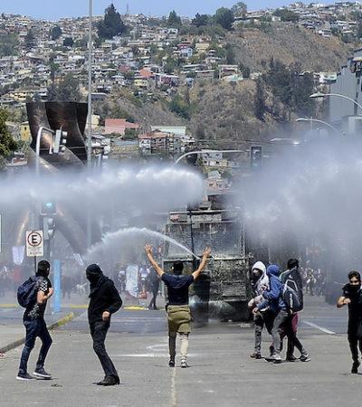 Marchan contra Piñera más de un millón en Chile; exigen sacar a militares de las calles
