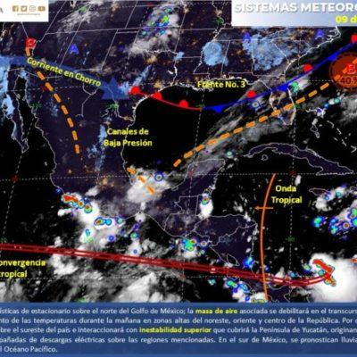 PRONÓSTICO DEL CLIMA: Prevén calor y lluvias este miércoles para los tres estados de la Península de Yucatán