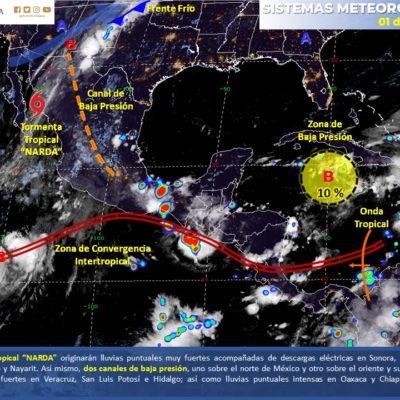 MONITOREO DEL CLIMA: Zona de inestabilidad está a 680 kilómetros de Quintana Roo