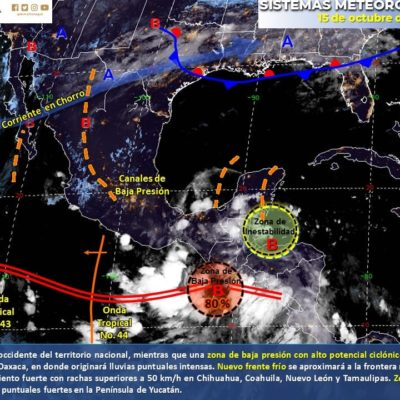 PRONÓSTICO DEL CLIMA: Lluvias intermitentes a lo largo de este martes para Quintana Roo