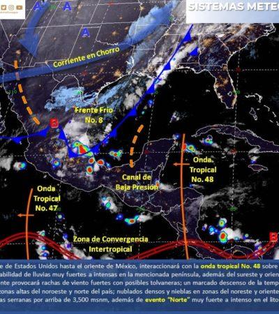 PRONÓSTICO DEL CLIMA: Prevén lluvias aisladas a lo largo del día para Quintana Roo