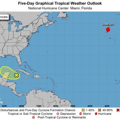 PRONÓSTICO DEL CLIMA: Zona de baja presión podría llegar a Quintana Roo la noche del jueves