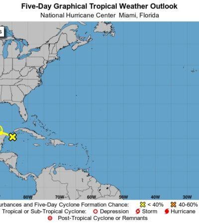 PRONÓSTICO DEL CLIMA: Canal de baja presión generará lluvias en Quintana Roo