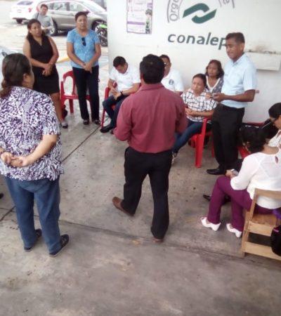 Maestros de Conalep levantan paro laboral y retornan a las aulas sin solución a sus peticiones