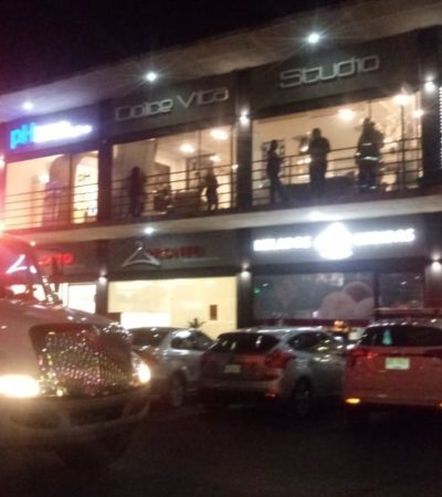 Provoca cortocircuito conato de incendio en plaza comercial de Chetumal