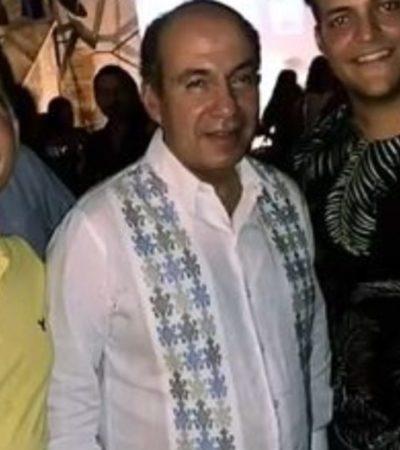 Se deja ver Calderón en un bar de Campeche previo a festejo de padres de Mouriño