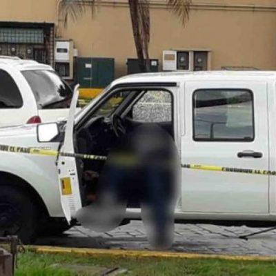 Ejecutan a ciudadano frente a su hijo en estacionamiento de plaza en Villahermosa