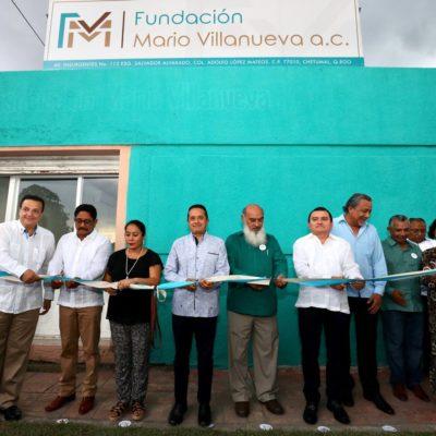 """""""NO SERÍA JUSTO NI LEAL SI NO DIJERA QUE VENGO A NOMBRE DE MIS PROPIAS IDEAS"""": Inaugura Gobernador Fundación Mario Villanueva"""
