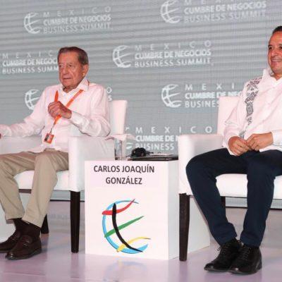 """""""AMLO EVITÓ UNA MATAZÓN"""": Miguel Alemán, presidente de la Cumbre de Negocios, respalda desde Cancún decisión presidencial sobre Culiacán"""