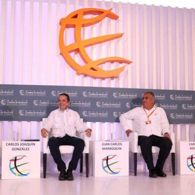 CUMBRE DE NEGOCIOS EN CANCÚN: Zona Sur-Sureste de México requiere de mayor impulso a la educación, infraestructura y apoyos a sistemas productivos, advierte Carlos Joaquín