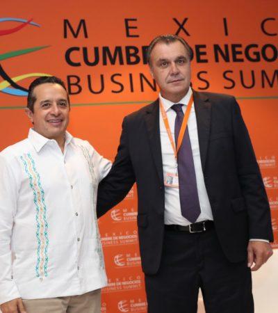 BUSCAN QR Y ESPAÑA DIVERSIFICAR INDUSTRIA TURÍSTICA: Anuncia Gobernador Cumbre Mundial de Asociaciones de Agencias de Viajes, en Cancún, y Primer Foro Iberoamericano de Inversión Turística y Productiva, en Chetumal