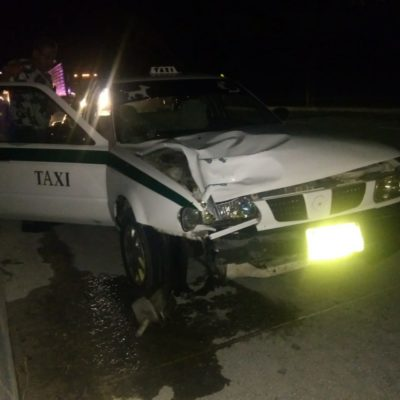 Muere hombre atropellado por un taxi en la carretera a la altura del parque Xcaret