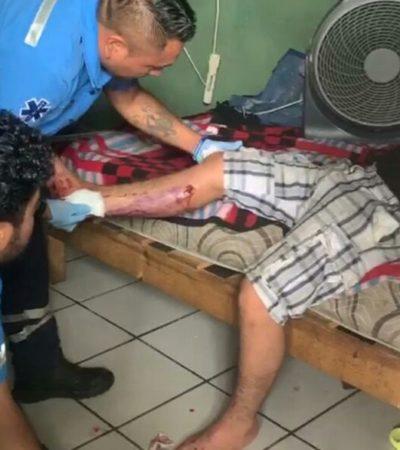Hombre herido de bala en bar de Cancún se fuga hasta Playa del Carmen