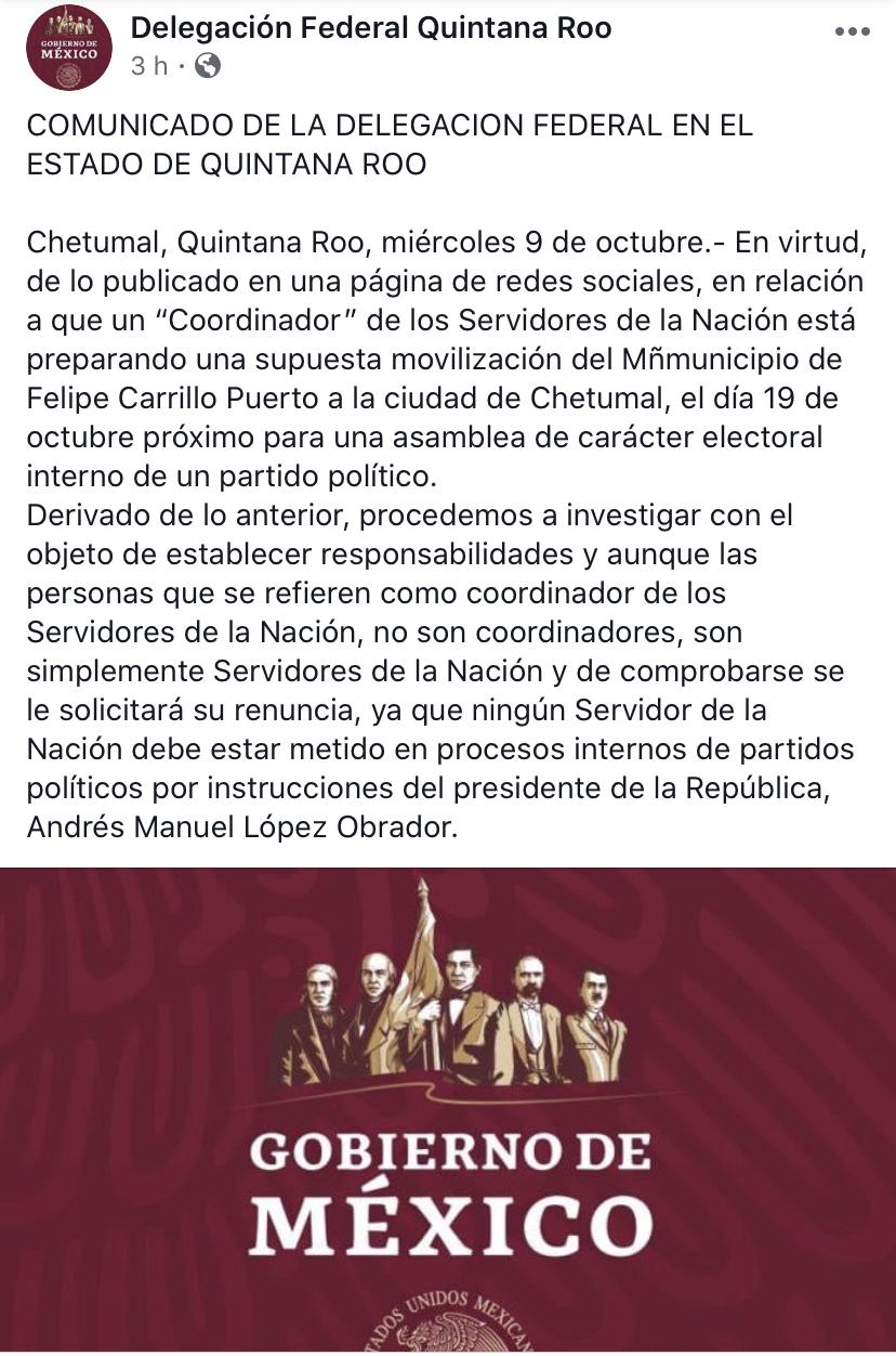 Abre Secretaría de Bienestar investigación contra Emanuel Mis, por presunta operación para acarrear militantes de Morena