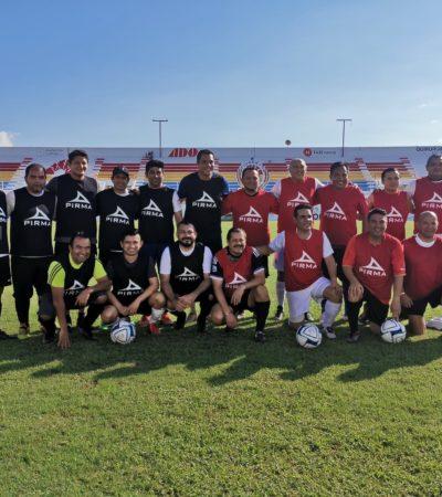 Usan funcionarios de Benito Juárez, estadio de fútbol para 'cascarita'