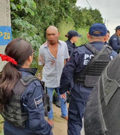 SÓLO SE QUERÍA ROBAR UN ROTOPLAS: Salvan de ser linchado a presunto ladrón captado infraganti en In House de Playa