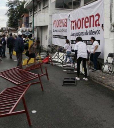 Intercambian acusaciones morenistas de Campeche tras desmanes en asambleas distritales