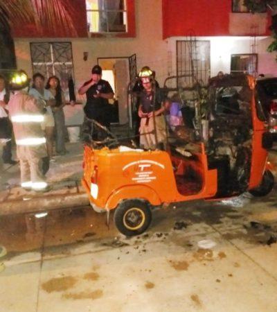 Continúan ataques incendiarios contra mototaxis de Puerto Aventuras