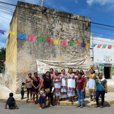 Se manifiestan dueños de inmuebles históricos en Tihosuco por declaratoria del INAH sin su consentimiento
